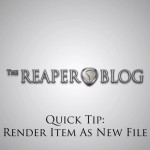 Video Quick Tip: Render Item As New File