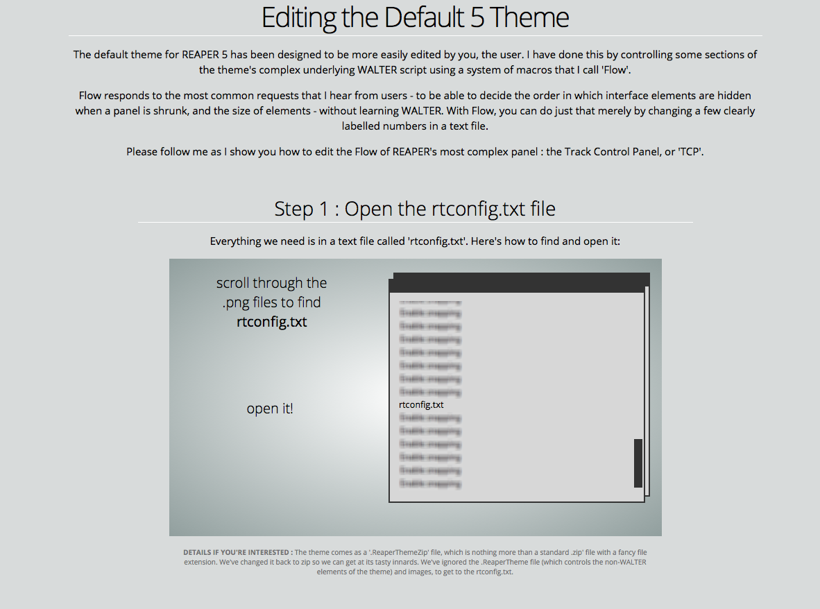 editing the default theme