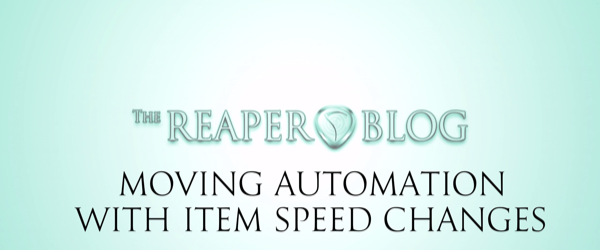 move automation with item speed